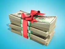 Concept of money Deposite Bonus Stack of dollar bills Cash With Stock Image