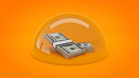 Concept money protection. Stock Images