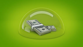 Concept money protection. Stock Photos