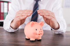 Concept of money protection Royalty Free Stock Photography