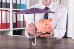 Concept of money protection Stock Image