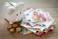 Concept for money saving or investment Royalty Free Stock Photography