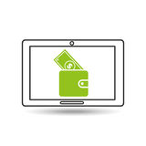 Concept money tablet digital graphic. Vector illustration eps 10 Royalty Free Stock Image