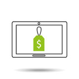 Concept money tablet digital graphic Royalty Free Stock Image
