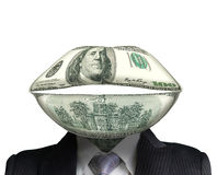 Concept of money talks royalty free stock photo