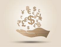 Concept of money. Royalty Free Stock Images