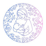 Concept of motherhood Royalty Free Stock Images