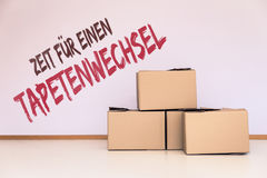 Concept move or relocation Royalty Free Stock Photo