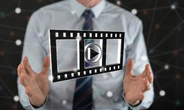 Concept of movies, video and cinema Royalty Free Stock Photo