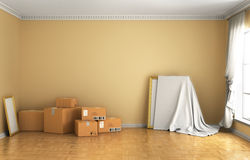 Concept of moving. Stock Photos