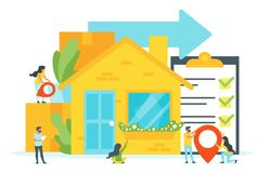Concept for moving home stock illustration