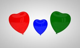 The concept of multi-colored balloons Stock Image