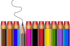 The concept of multi-colored pencils Royalty Free Stock Photography