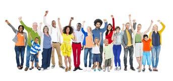 Concept multi-ethnique d'unité de variation d'appartenance ethnique de diversité Photographie stock libre de droits