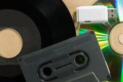 Concept of music evolution Stock Photos