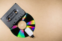 Concept of music evolution Royalty Free Stock Photos
