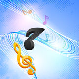 Concept of music with musical notes. Stock Photography