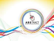 Concept musical abstrait d'onde de cercle Photo stock