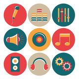 Concept of musical icons. Royalty Free Stock Photography
