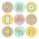 Concept of musical icons. Stock Photography
