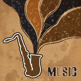 Concept of musical instrument with stylish text. Stock Photography