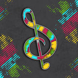 Concept of musical note clef. Stock Photo
