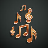 Concept of musical notes. Stock Photos