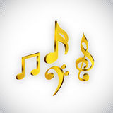 Concept of musical notes. Royalty Free Stock Image