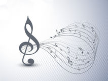 Concept of musical notes with waves. Stock Image