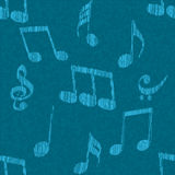 Concept of musical sign with seamless pattern. Stock Photo