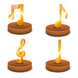 Concept of musical sign. Royalty Free Stock Images