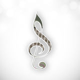 Concept of musical sign. Royalty Free Stock Photos
