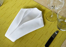 Concept for Napkin. Small folded linen concept for Napkin stock photos