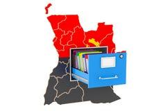 Concept national angolais de base de données, rendu 3D Illustration Stock