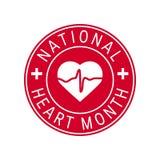 Concept national de mois de coeur dans le style plat illustration libre de droits