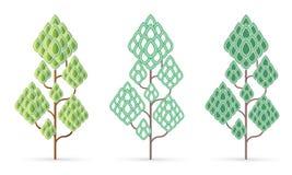 Concept naturel d'arbre, vecteur de graphique de feuille illustration de vecteur