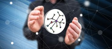 Concept of network stock illustration