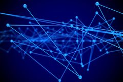 Concept network on blue background. 3D illustration.  Stock Images