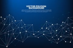 Network Connecting dot polygon background. royalty free illustration