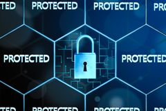 Concept of network security. royalty free stock photography