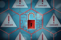 Concept of network security. royalty free stock image