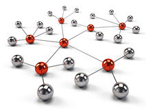 Concept of Network, social media, internet communication Royalty Free Stock Photo