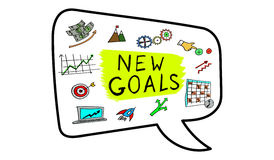 Concept of new goals. Illustration of a new goals concept Stock Photography