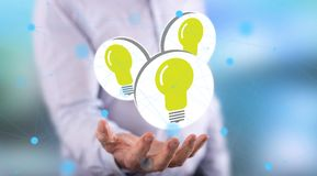 Concept of new ideas stock photography