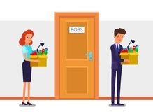 Concept of New job, hiring and dismissal. Royalty Free Stock Image