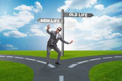 The concept of new and old life. Concept of new and old life vector illustration
