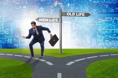 The concept of new and old life. Concept of new and old life royalty free stock photo