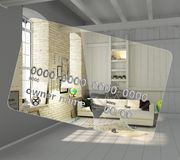 Concept of new opportunities A new interior instead of a camp on. A credit card Money transactions Crediting 3d render stock illustration