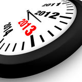 Concept New Year Clock Stock Image