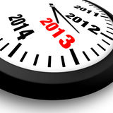 Concept New Year Clock. 2013 Concept New Year Clock Royalty Free Stock Photography